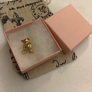 Avon vintage teddy bear rhinestone bear gold